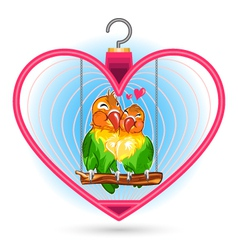 valentine love bird vector image
