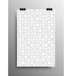 Vertical Poster A4 Puzzle Pieces White Puzzles vector