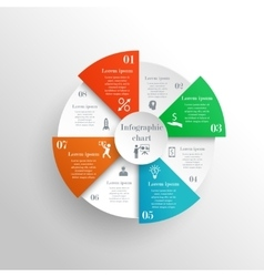 Abstract circle infographic chart vector image vector image