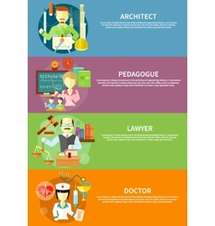Architect lawyer doctor and pedagogue vector image vector image