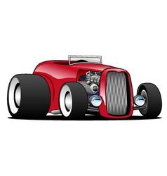 Classic Street Rod Hi Boy Roadster vector image vector image