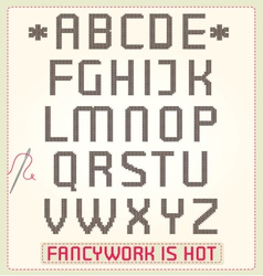 cross stitch alphabet vector image