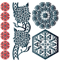 Floral Islamic ornaments vector image vector image