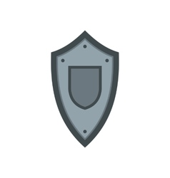 Metal medieval shield icon flat style vector image vector image