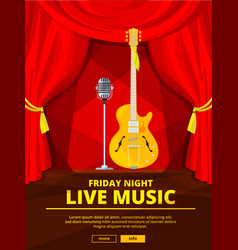 poster invitation at live music concert vector image