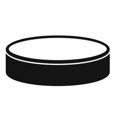 puck icon simple style vector image