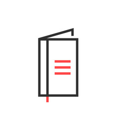 thin line black simple notebook icon vector image vector image