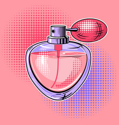 Woman perfume pop art vector