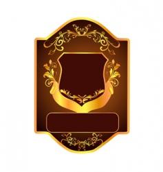 floral shield vector image