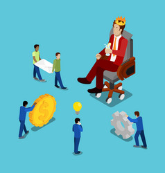 isometric business people businessman in crown vector image vector image