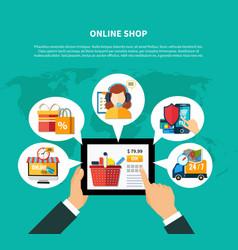 online shop composition vector image vector image