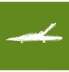 Sketch of funny crocodile for your design vector image