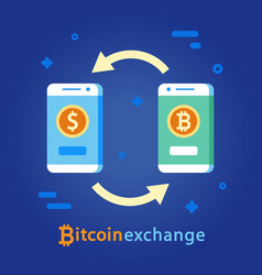 bitcoin exchange concept cryptocurrency money vector image