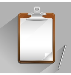 brown clipboard vector image vector image