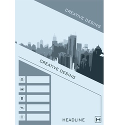 Business brochure flyer banner design vertical vector