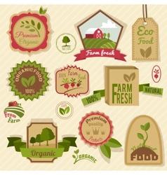 Vintage organic labels vector image vector image