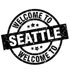 welcome to seattle black stamp vector image