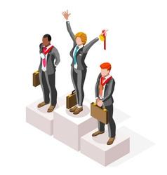 Ambitious business change 77 job ambitions concept vector