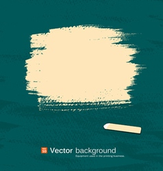 Chalk yellow pastel space for text on blackboard vector image