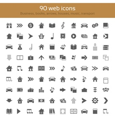 Icons collection vector image vector image