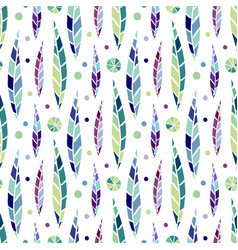 modern seamless stylized leaf pattern bright vector image