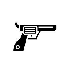 revolver - gun - cowboy icon vector image