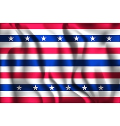 Stars and Stripes Flag Rectangular Shaped Icon vector image vector image