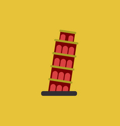 The leaning tower of pisa vector