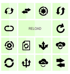 14 reload icons vector