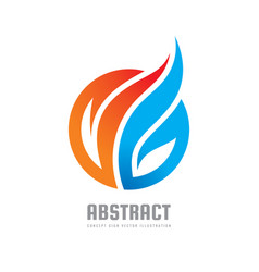 abstract colored leaves - concept business logo vector image