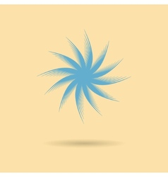 Abstract icon tumbleweed with shadow vector