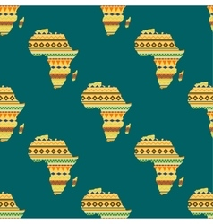 Africa continent seamless pattern vector