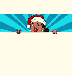 african santa girl with copy space poster vector image