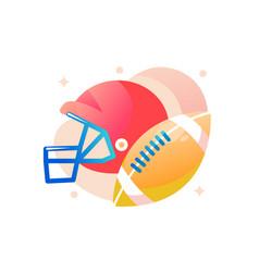 american football helmet with ball vector image