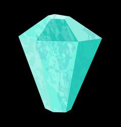 Aquamarine precious stone gemstone mineral vector