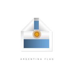 Argentina label flags template design vector