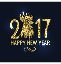 Banner with Lettering 2017 Chinese New Year vector image
