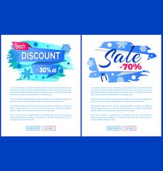 best discount 30 off winter 2017 final sale labels vector image