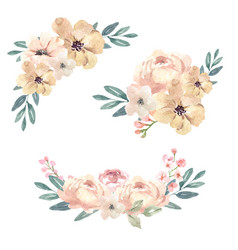 Bouquet icon for unique cover decoration warm vector