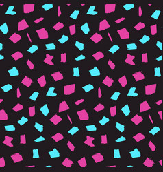 bright dark pattern with pink and blue blotches vector image
