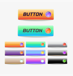 button web elements vector image