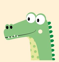 Card with cartoon crocodile vector