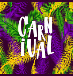 Carnival on palms nature vector