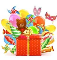 Celebration Concept with Gift vector