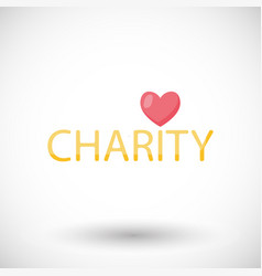 Charity flat icon donation vector