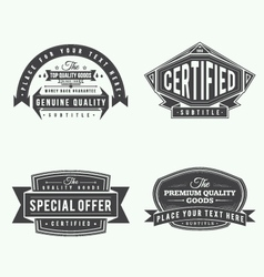 collection of retro vintage style labels and banne vector image