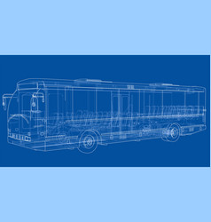 concept city bus rendering of 3d vector image