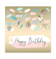 confetti brush birthday cards vector image