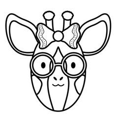 cute female giraffe childish character vector image