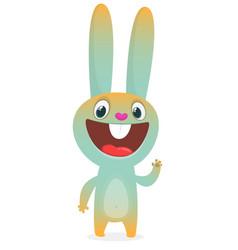 cute rabbit cartoon isolated vector image